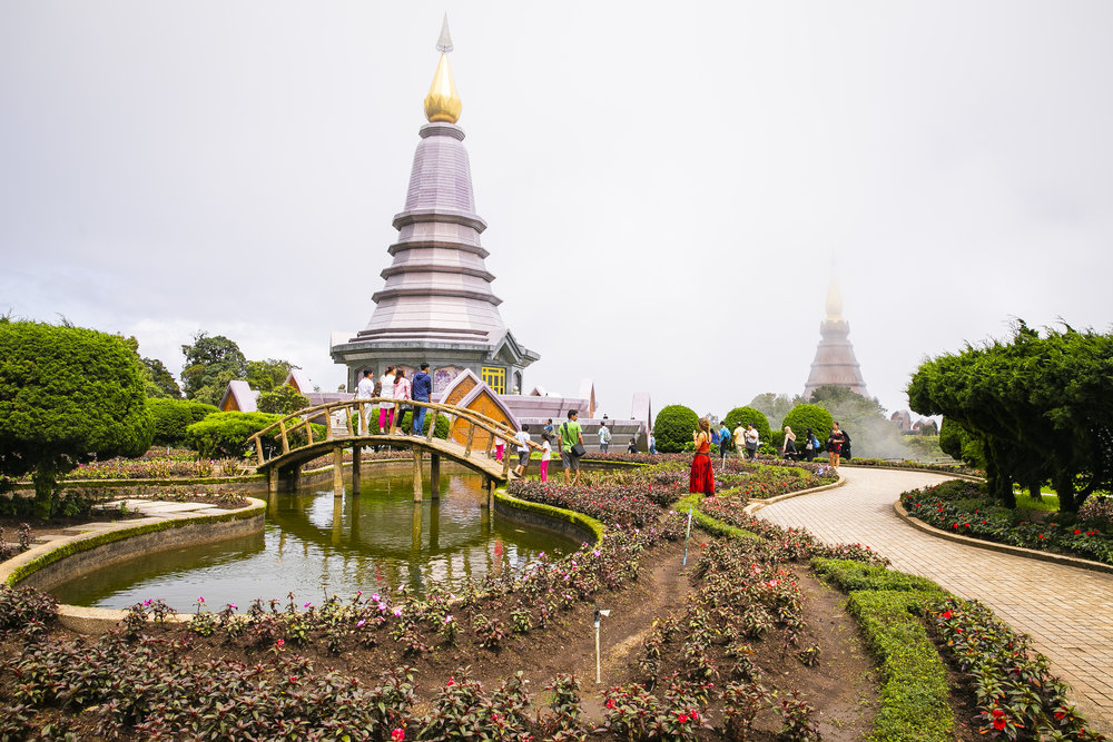 We visited Doi Inthanon National Park after our morning with the elephants but didn't get super lucky with the weather.