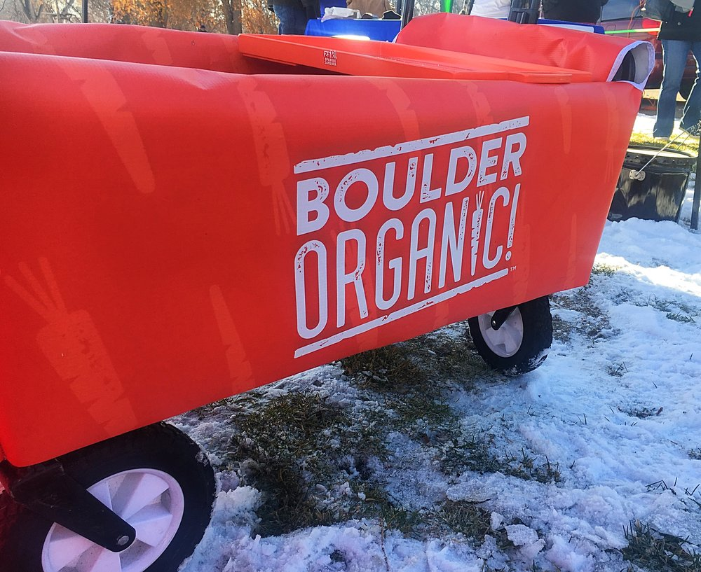 Gone sledding with Boulder Organics. Our field teams spread the love (and warmth) of our brands, come rain, snow, or shine!