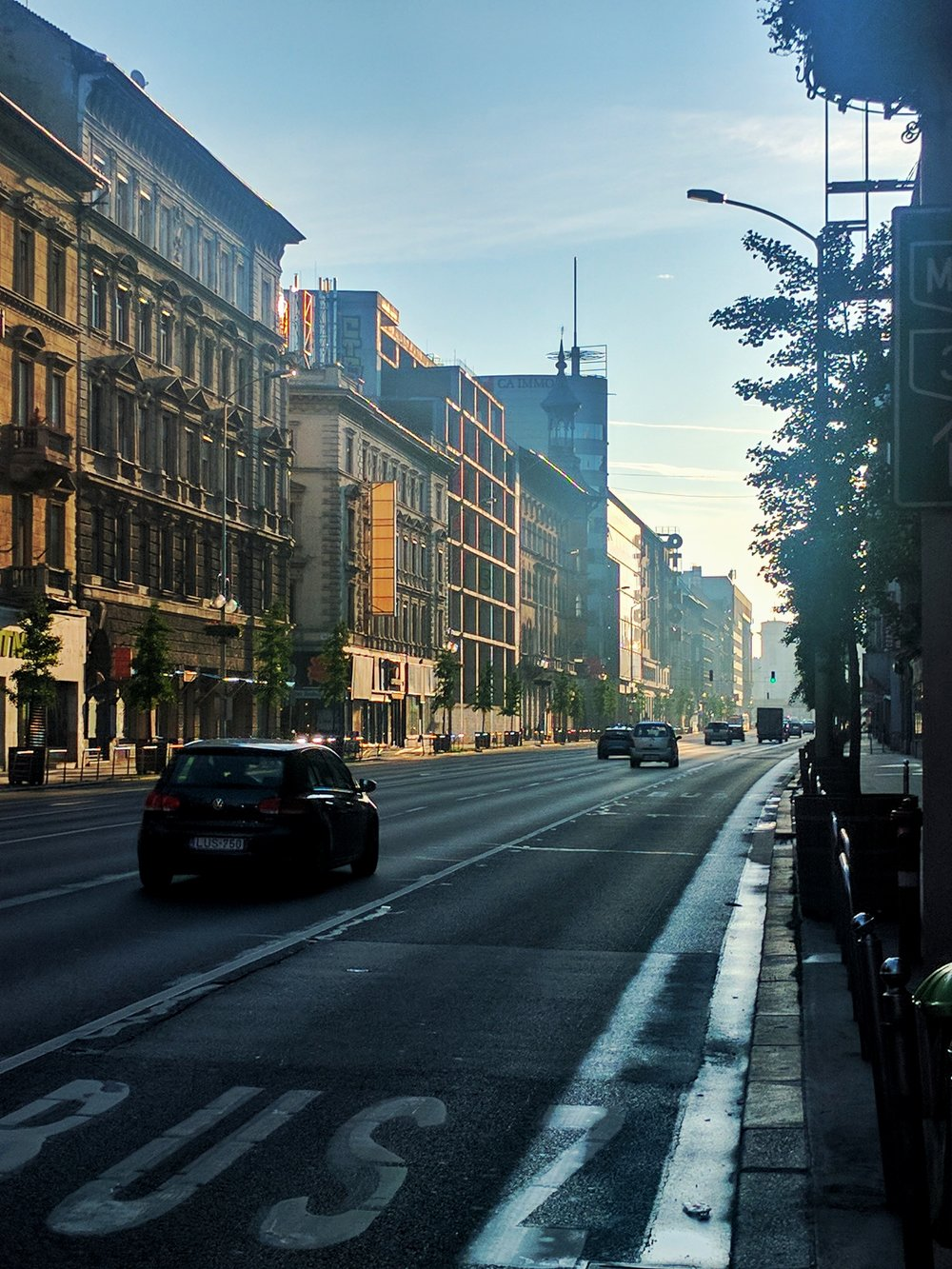 Early morning in the city