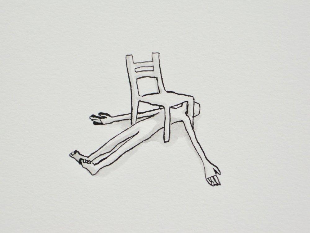 """Chair Nap, 9 x 12"""""""
