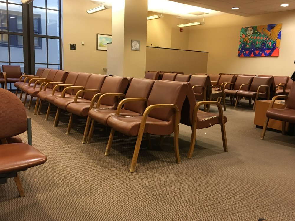 One of Allegheny Family court waiting rooms after a day of observations and interviews