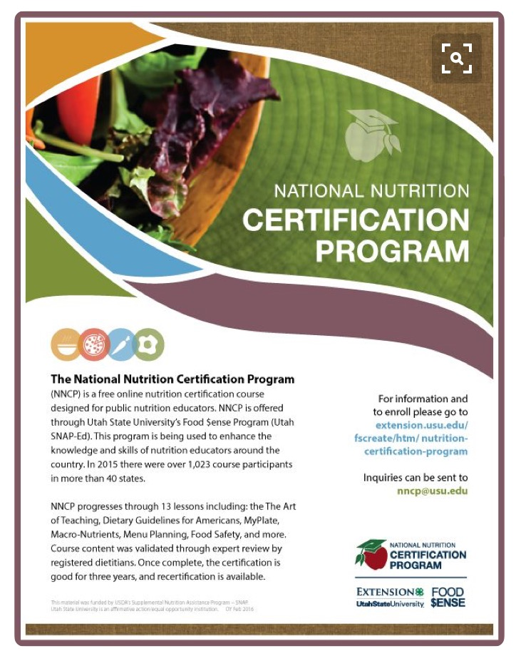 National Nutrition Certification Program Curriculum Josh Lefevre