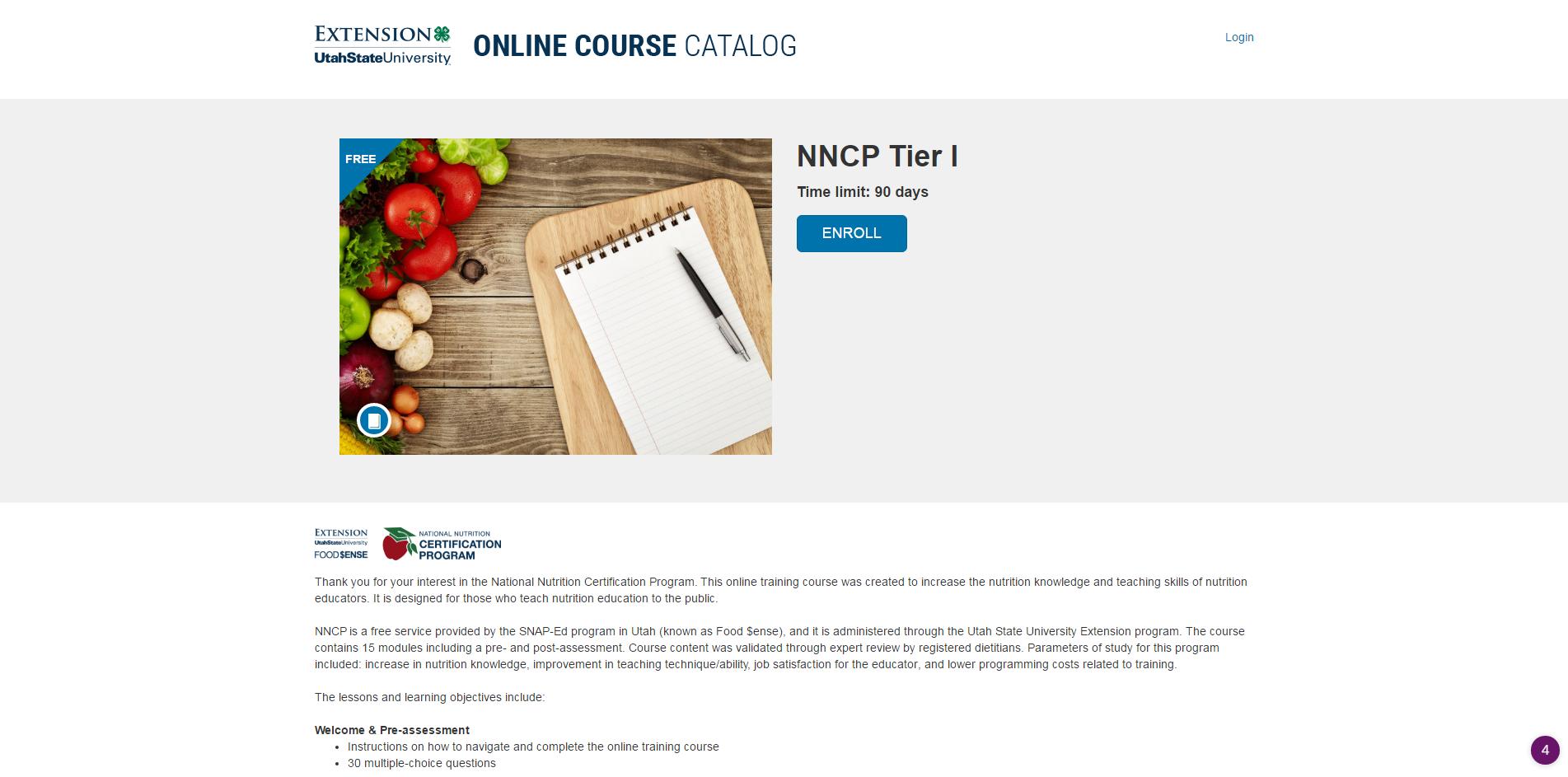 National Nutrition Certification Program Curriculum Josh Lefevre