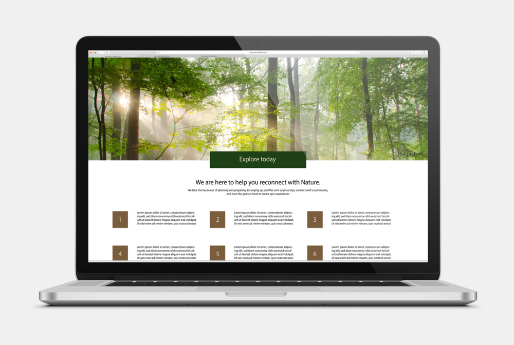 Technology touchpoint as the website for signing up and tracking one's outdoor history