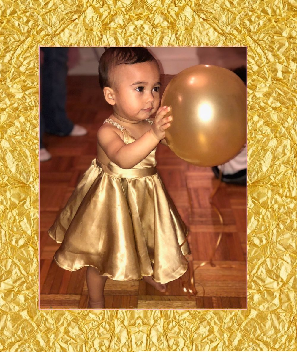 Custom Gold Birthday Dress - 2017