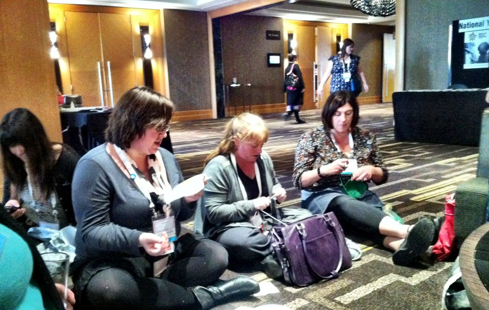 Perth Conference - librarians crafting!