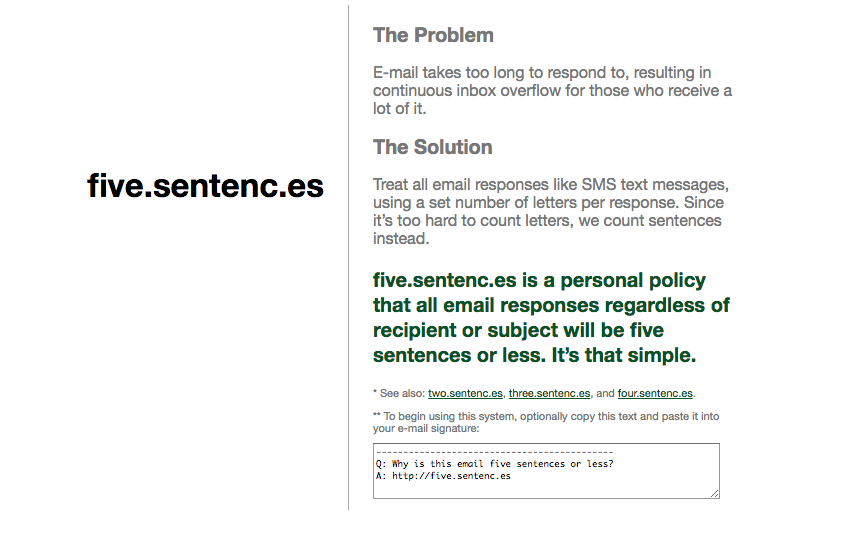 Try adopting a policy where you keep your emails short and sweet.  http://five.sentenc.es/