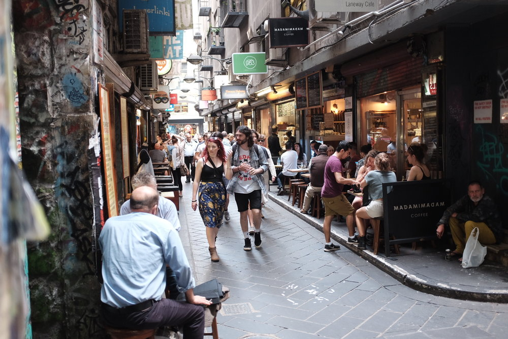 Wander down Degraves street for great little shops, bars, street art and cafes.