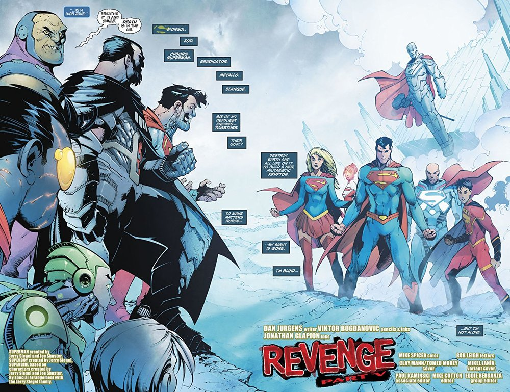 6 / 10 - Action Comics #983 progressed this story arc in an enjoyable, yet predictable way. The battle between the Super-family and the Revenge Squad ultimately takes a back seat to Superman and Zod's fight, which was disappointing. But, there's no sign of this story arc slowing down any time soon, and I still have high hopes for the upcoming conclusion.