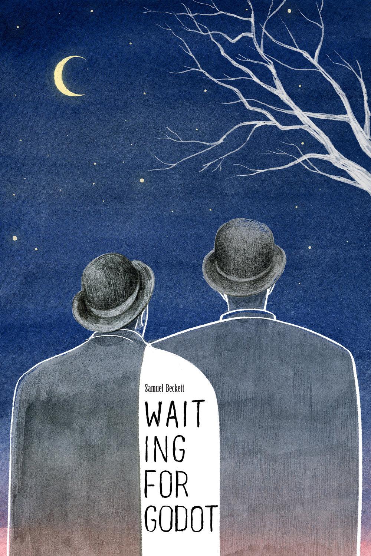 A mock-up cover design for Samuel Beckett's script Waiting for Godot.