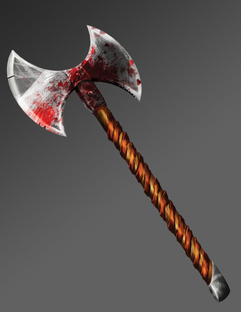 Viking axe - final render