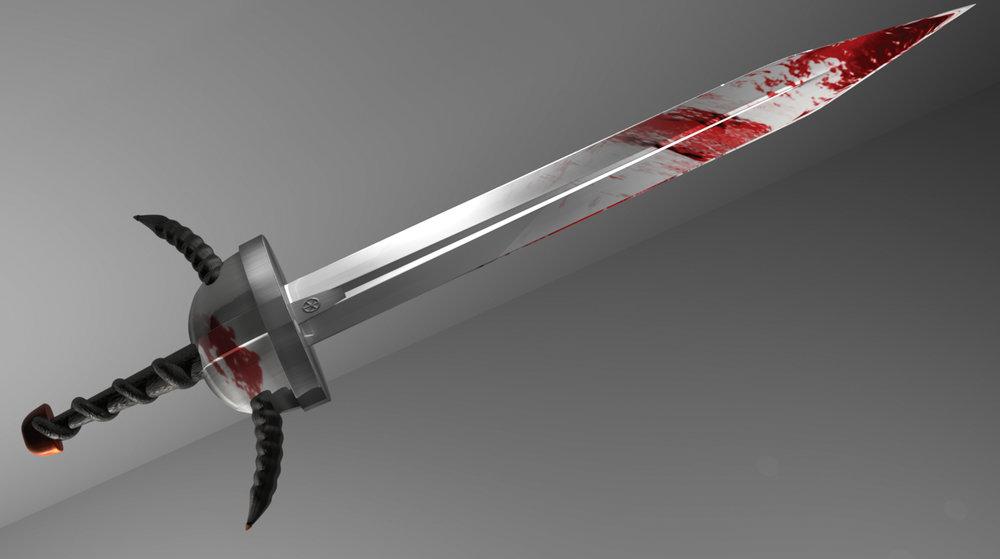3D Viking sword model - final texture render