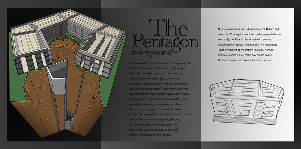 The Pentagon underground - final colour render