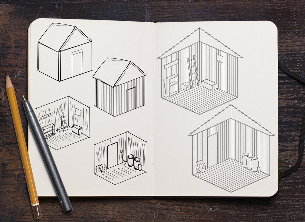 Small barn - ideation & clean up