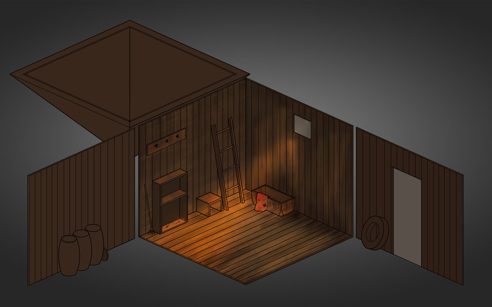 Small barn - color render (unfinished)