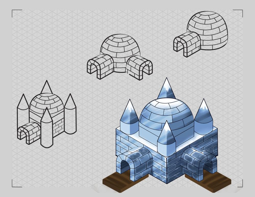 Ipad winter race game - full render of asset1