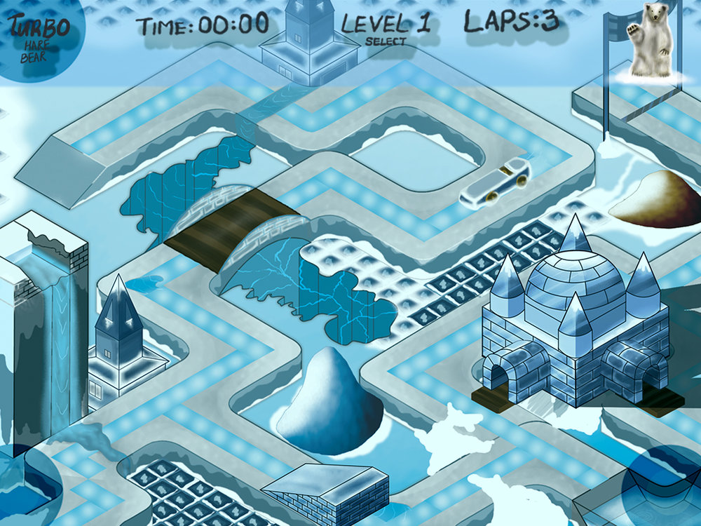 Ipad winter race game - gameplay
