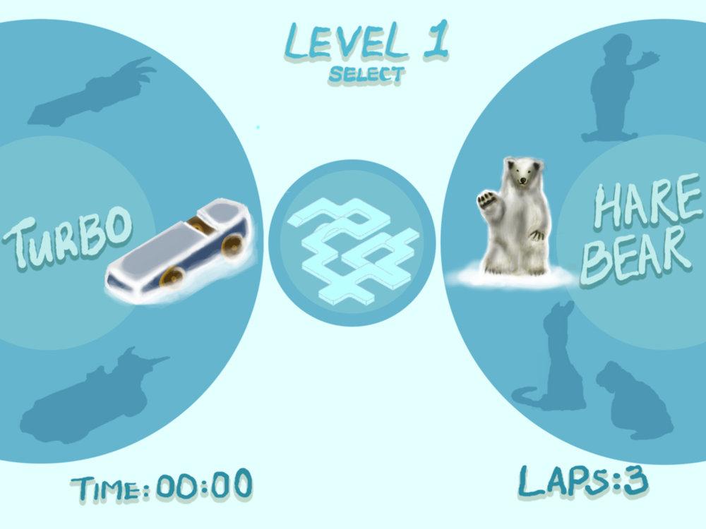 Ipad winter race game - select menu