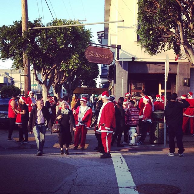 San Francisco celebrates all holidays, which include dress like Santa and get drunk day.