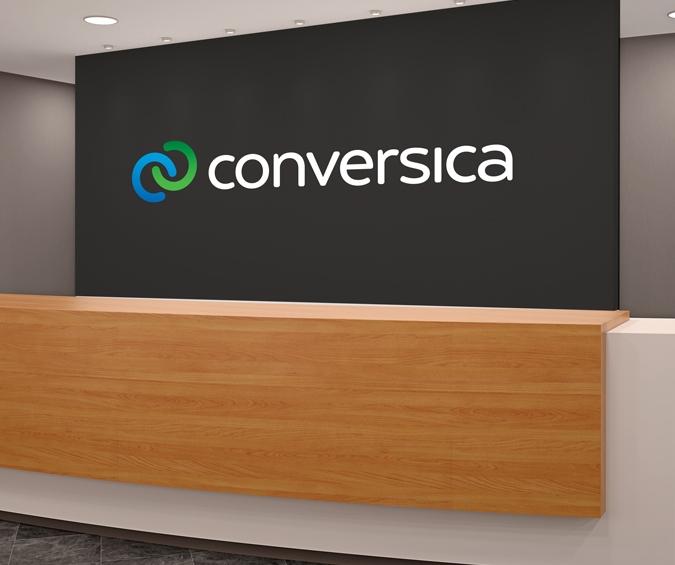 The new brand logo for Conversica