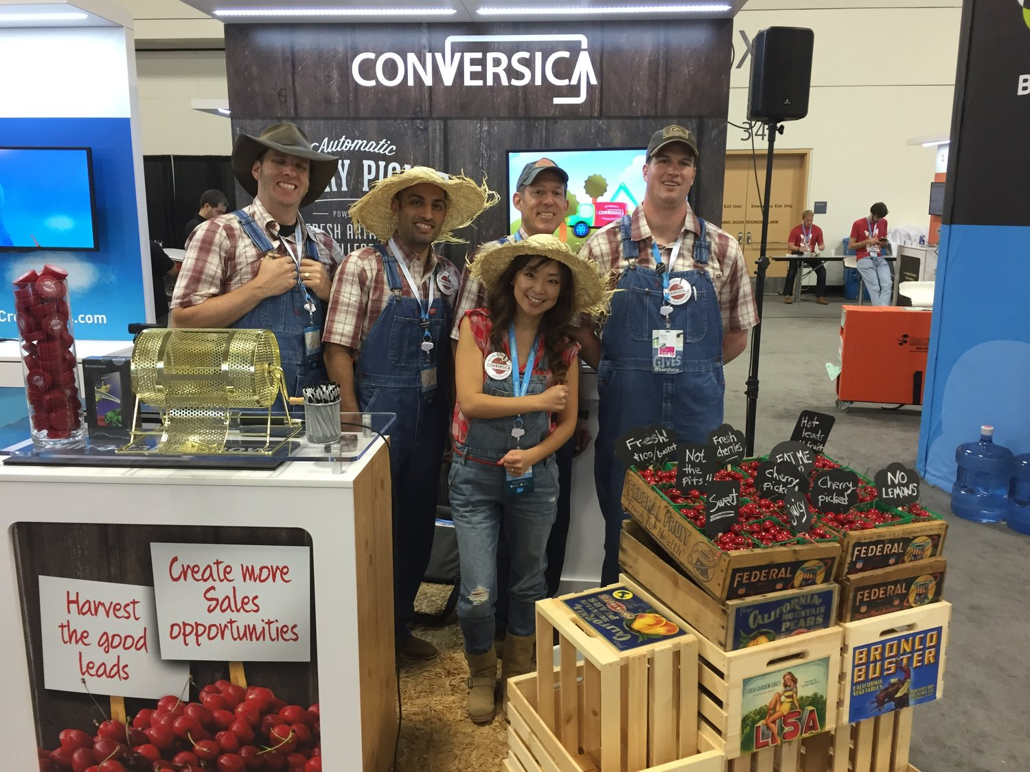"The Conversica team as ""lead cherry pickers"" at DreamForce."