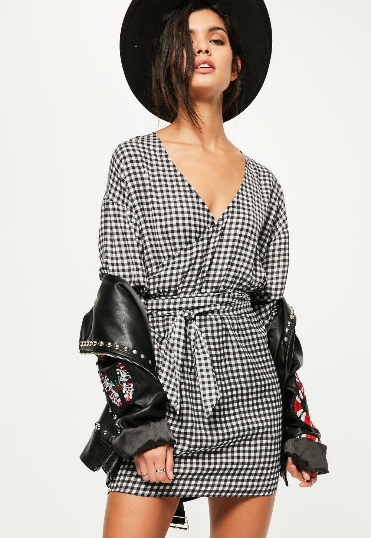 black-gathered-sleeve-tie-waist-gingham-dress.jpg