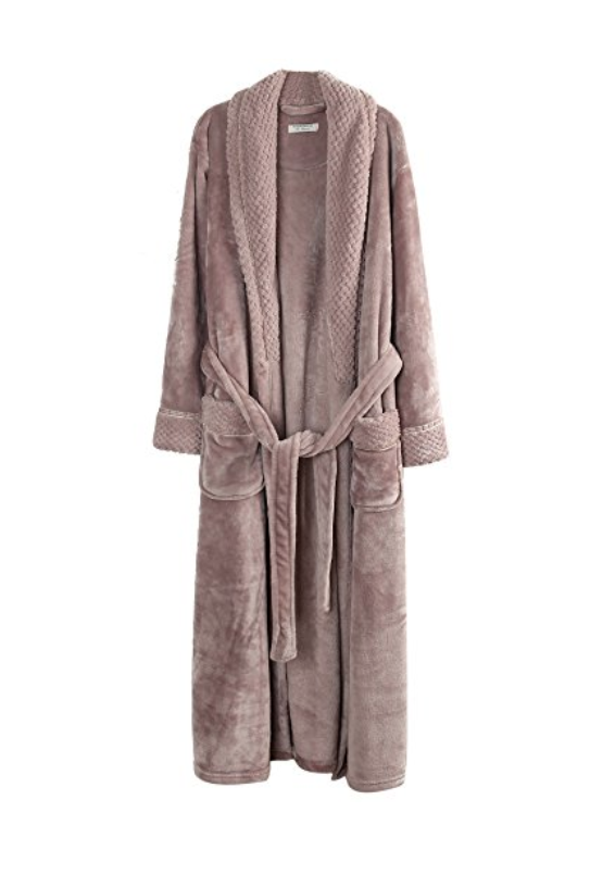 Plush Robe - I wear this thing every. single day. SO soft, under $40 and it has a 4.7 star review with almost 2000 reviews. Highly recommend