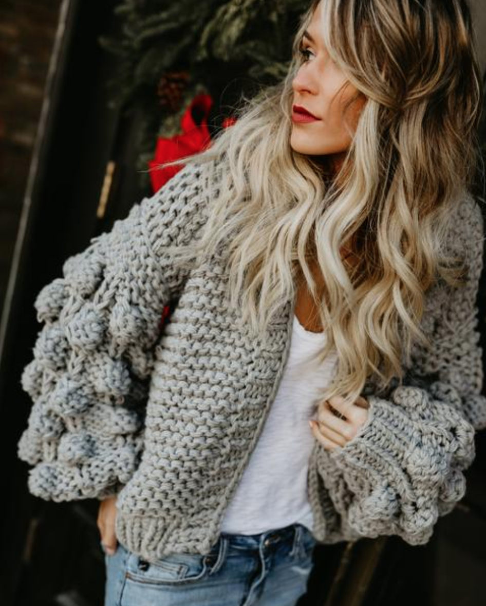 Chunky Knit Sweater - I am completely obsessed with this sweater. If you've been following any style bloggers lately, I'm sure you've seen an overload of chunky knits. This VICI Collection cardigan is super warm, and very hygge-esque.