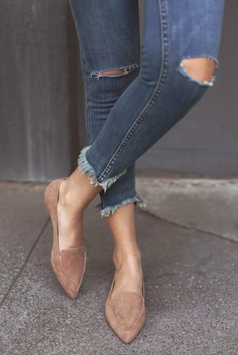 Lulus Emmy Loafers - So I bought these in black last year and wore the absolute crap out of them so I think I need to invest in a nude pair because obviously I can't get enough of neutral shoes. They are under $25.00 and so comfy!!!
