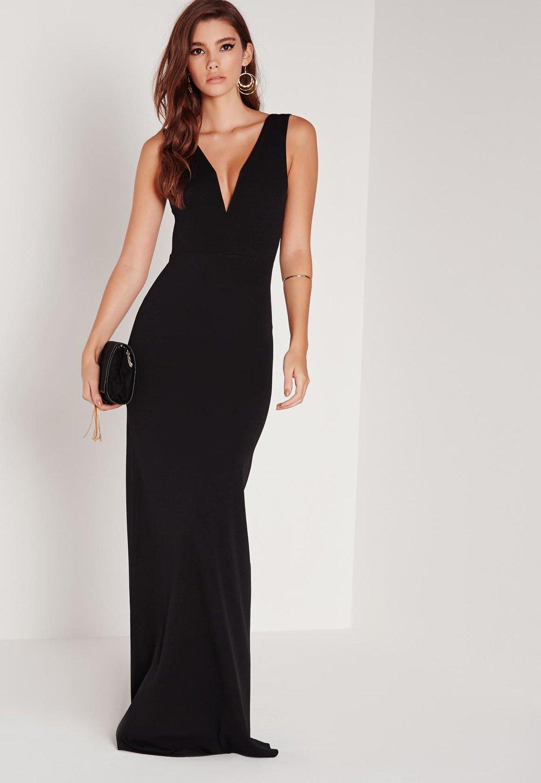 petite-black-v-plunge-scuba-maxi-dress.jpg