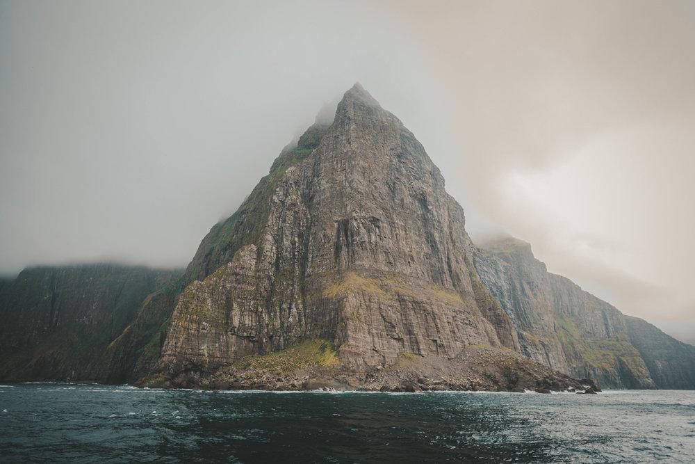 the sea cliffs at vestmanna