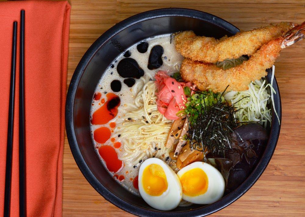 Creamy Tonkotsu Ramen w/ Shrimp Tempura