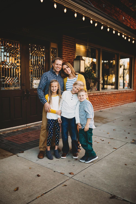downtown Bryan family photos