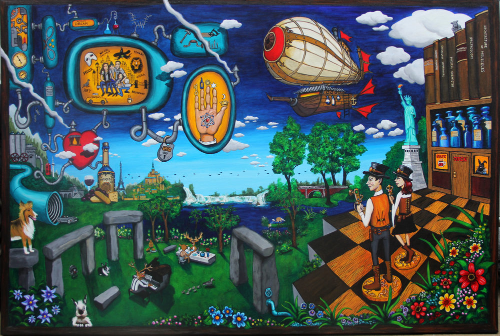 """The Alchemist""  48' X 72'  acrylic on canvas"