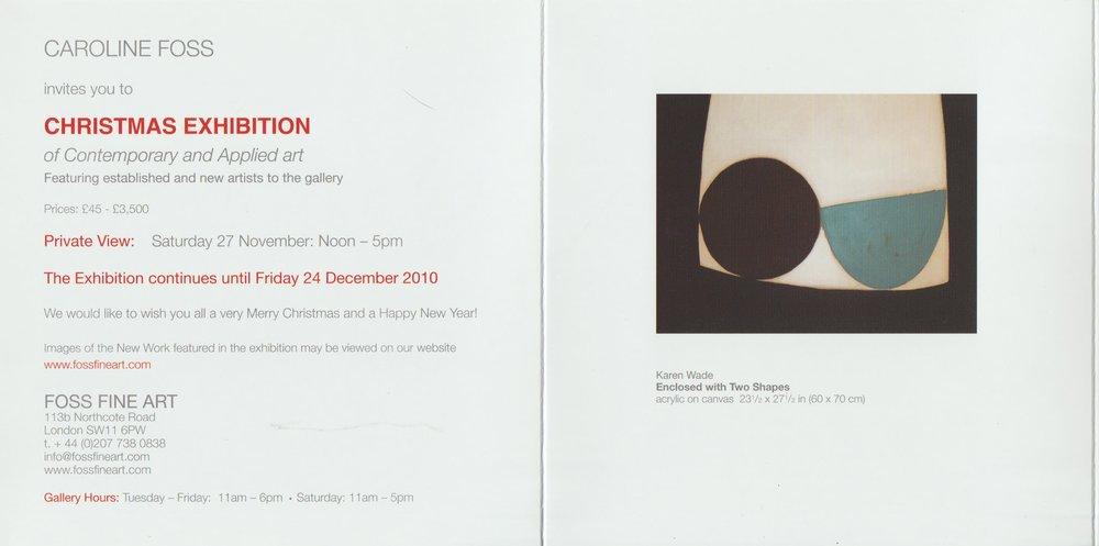 Foss Fine Art London, 2010