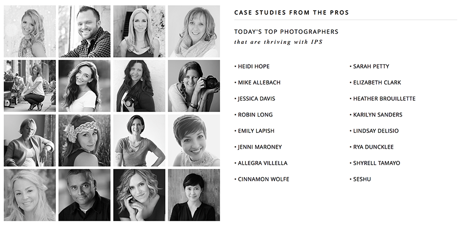 Contributors to The Ultimate In-Person Sales Course for Photographers