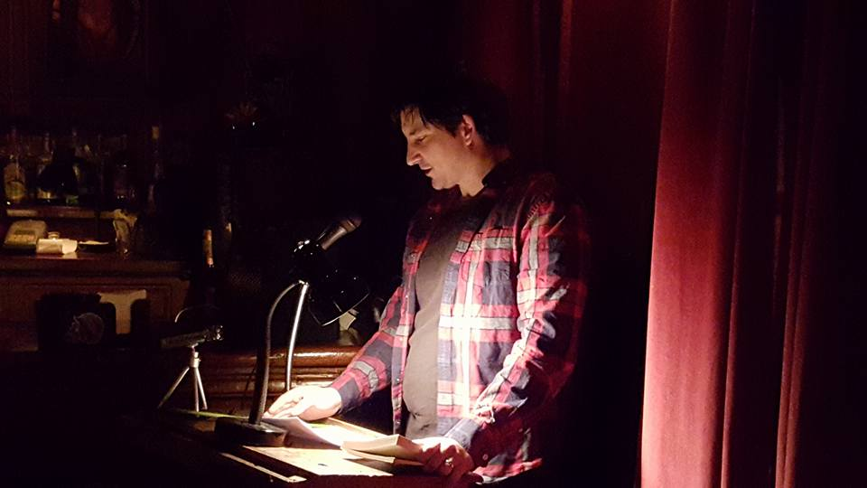 Reading at the KGB Bar, NYC, April, 2016.