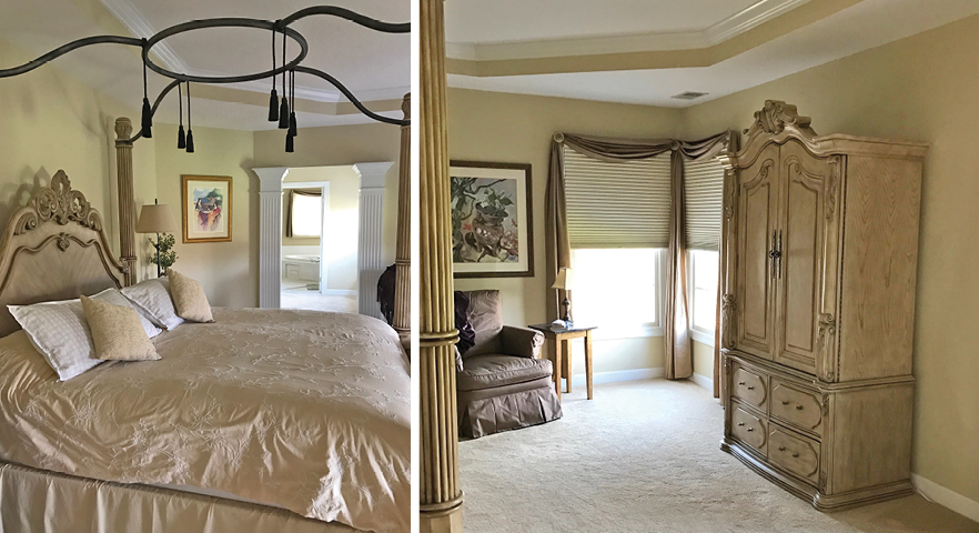 Staging and painting a Master Suite.