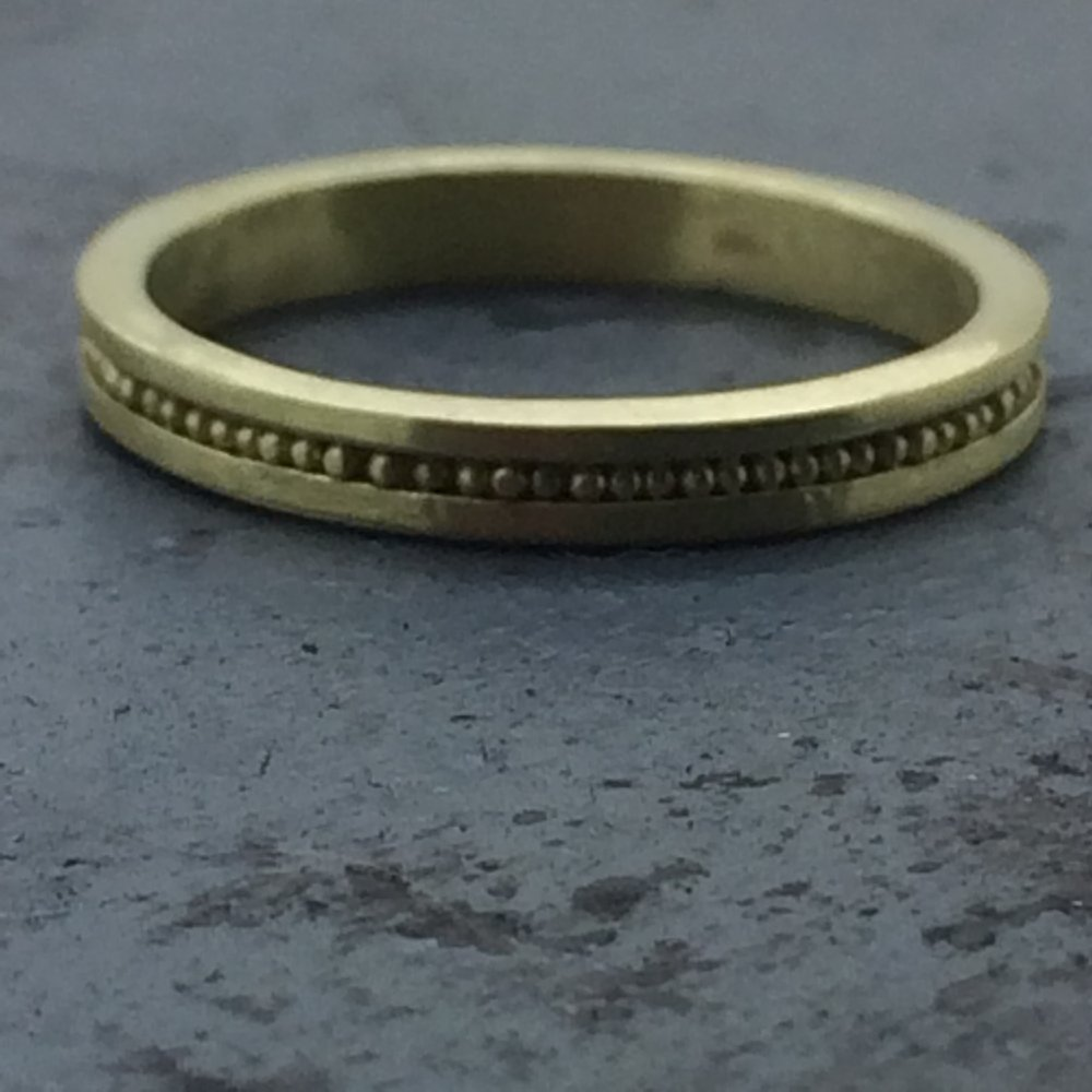 18k Granulated Band 2014. Made at Revere with Kent Raible.