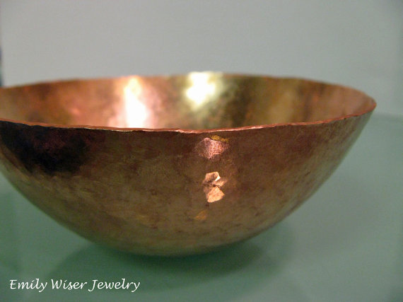 Raised Copper Bowl 2014. Practice Piece made at Revere.
