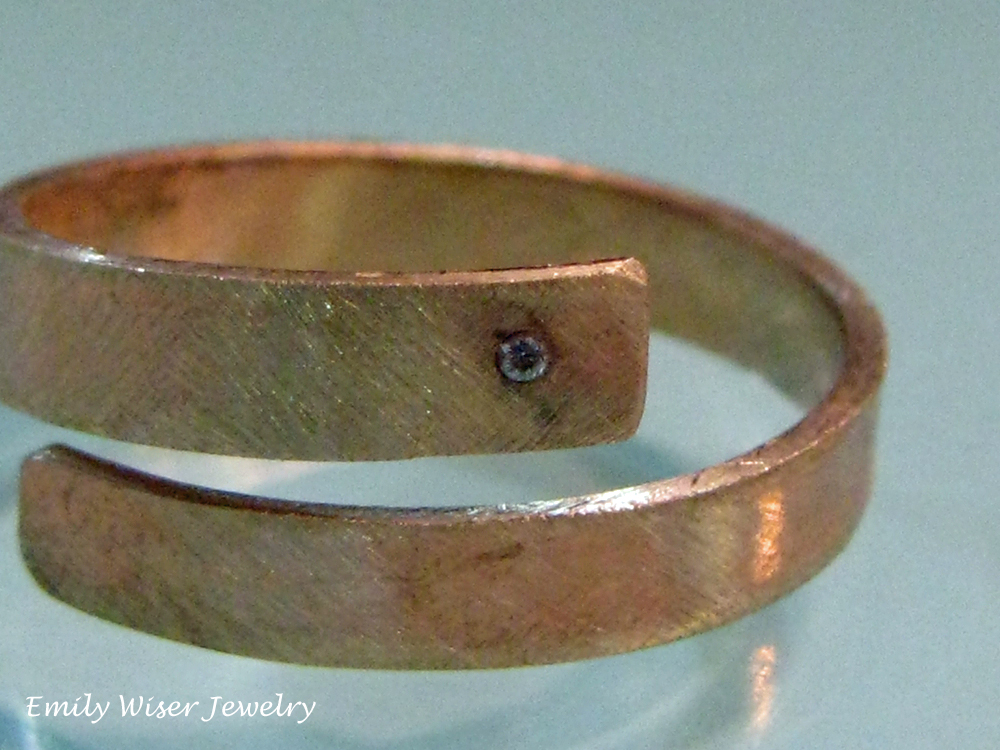 Bronze Wrap Ring with Diamond 2012