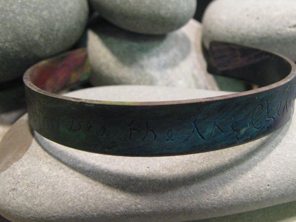 Merge. Engraved Copper Cuff 2011