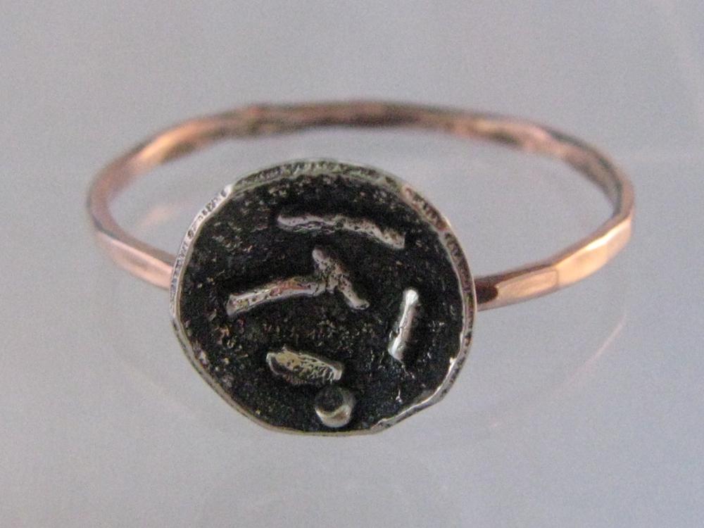 Lotus Ring. 14k Rose Gold, Sterling Silver, 22k Gold. 2012