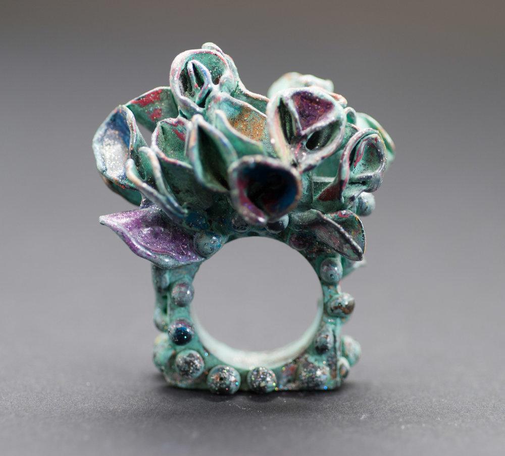 Wild Untamed Growth Ring in Bronze 2011