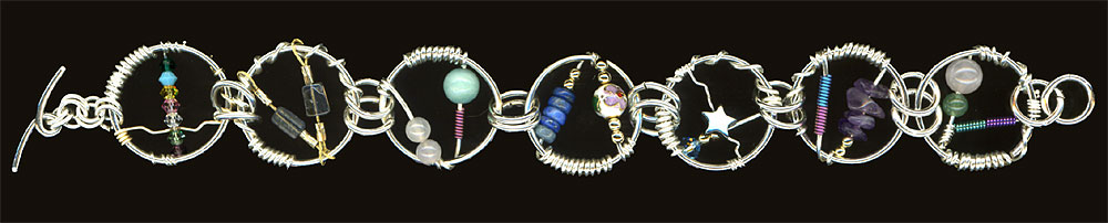 Wire Wrap Bracelets. Sterling, 2006-08