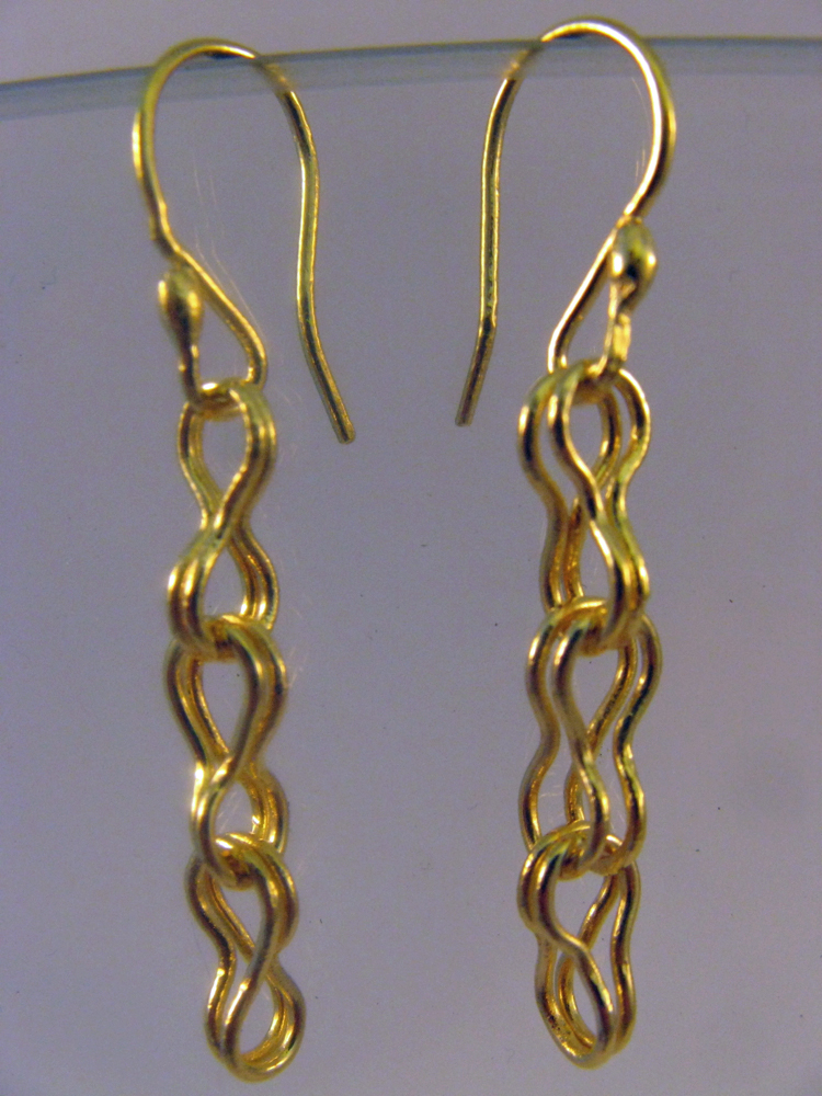 22k Roman Chain Earrings 2013. Traditional chain pattern.