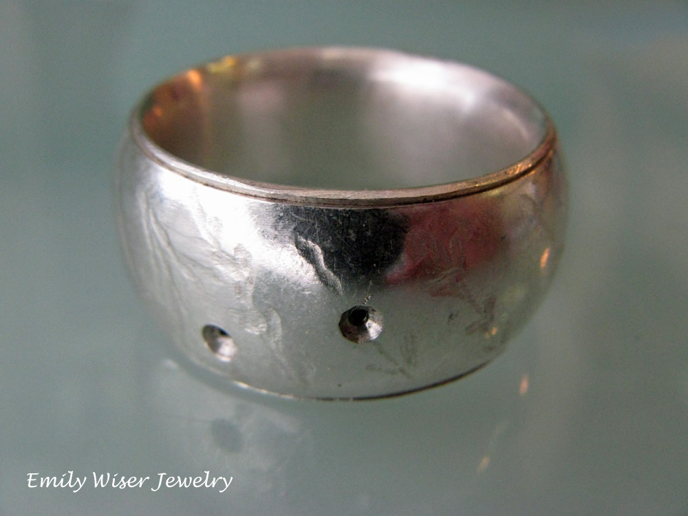 Hollow Sterling Silver Ring. 2013?