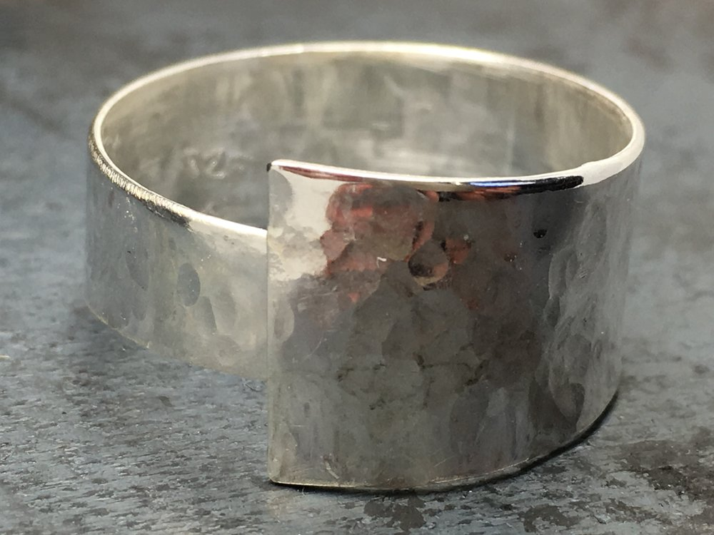 Hammered Sterling Silver Wrap Ring 2016