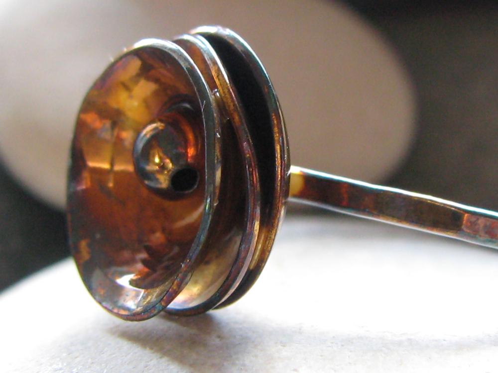 Triple Lotus Flower Ring. Sterling. 2009