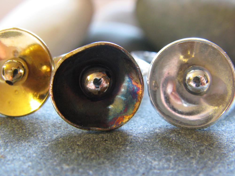 Lotus Flower Rings. Sterling Silver. 2009
